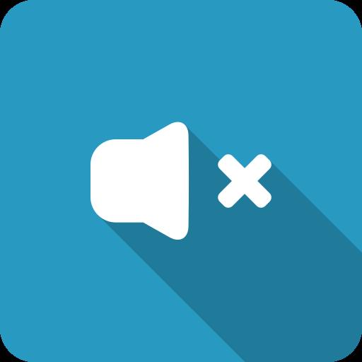 adjust, blue, mute, shadow, silence, speaker, volume icon