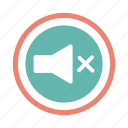 audio, music, mute, sound, speaker, volume