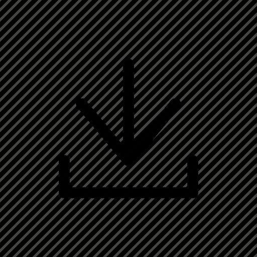 arrow, down, download, file, internet icon