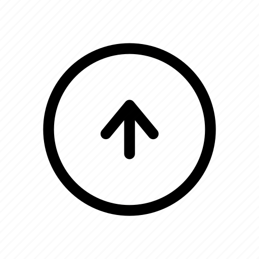 arrow, circle, move, play, up icon