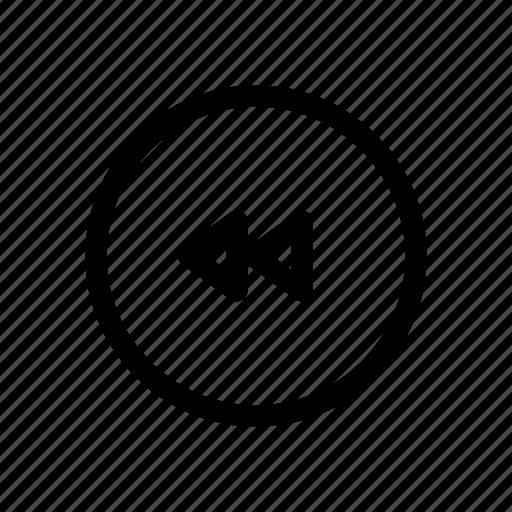 audio, media, music, play, player, rewind icon