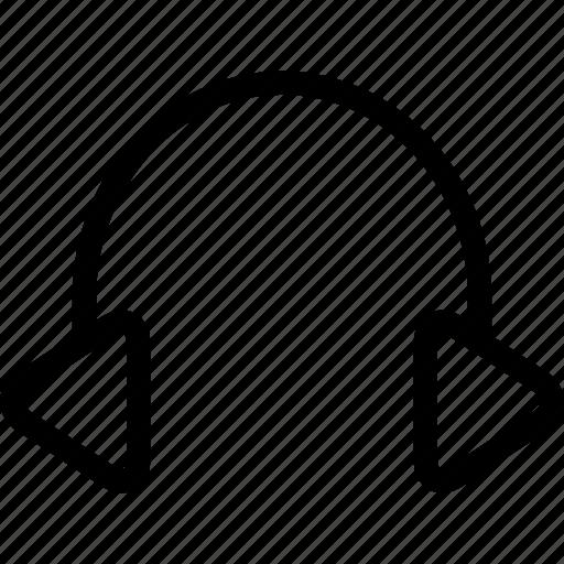 headphone, headset, streamline icon