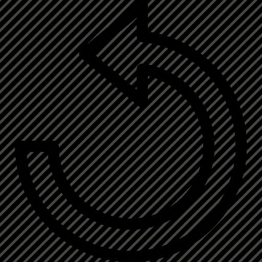 anticlock, back, interface, left, return, reverse icon