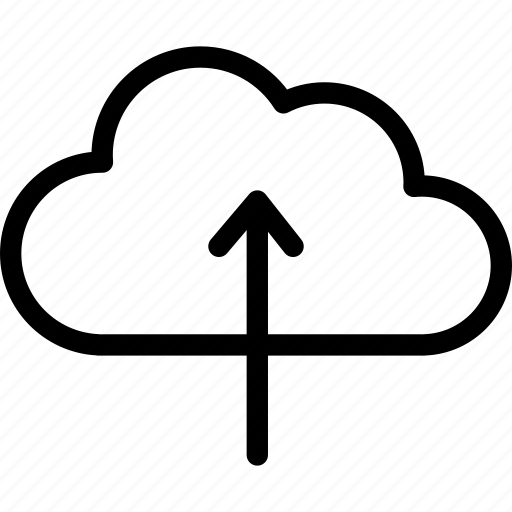cloud, cloudy, forecast, up arrow, upload icon
