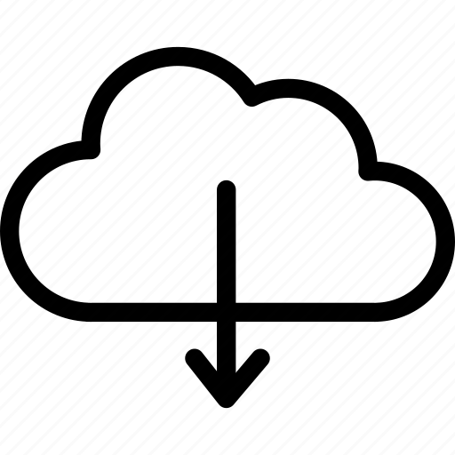 cloud, download, forecast, rain, raining icon