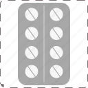 aspirin, drug, medicine, pill icon
