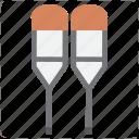 crutch, crutches, disabled, walking stick icon
