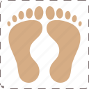 feet, foot, footprint icon
