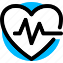 cardio, heart, heartheat, pulse icon