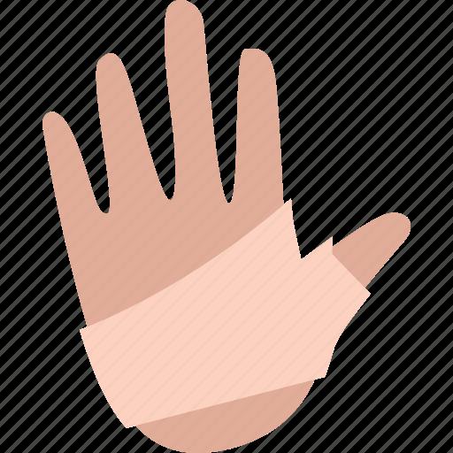 Bandage, hand, health, medical icon - Download on Iconfinder