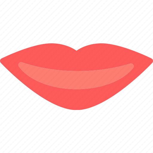 lips, red, women icon