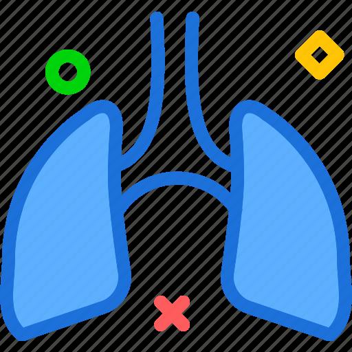 air, human, lungs, organ icon