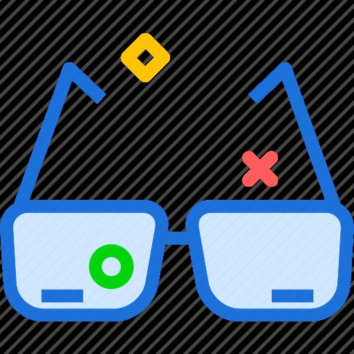 eye, glasses, health, medical icon