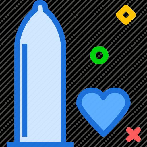 condom, heart, male, masculin, penis, reproduction icon