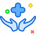 cross, hand, health, medical, smedical