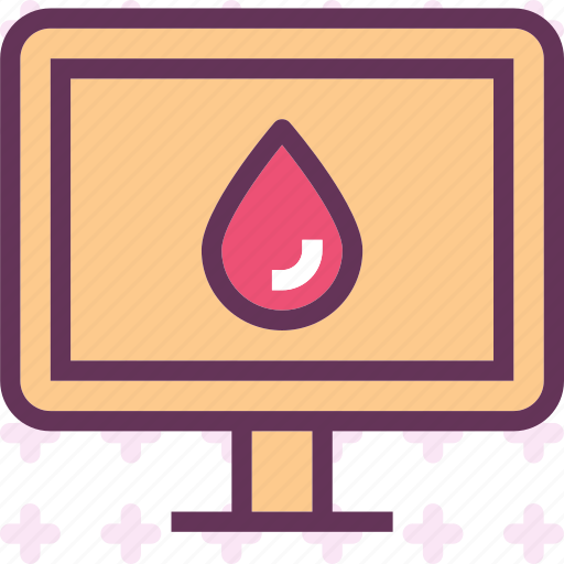 blood, display, droplet, monitor, stats icon