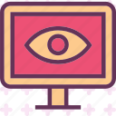 display, eye, health, medical, monitor, stats icon
