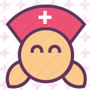 assistent, doctor, female, health, medic, medical, nurse icon