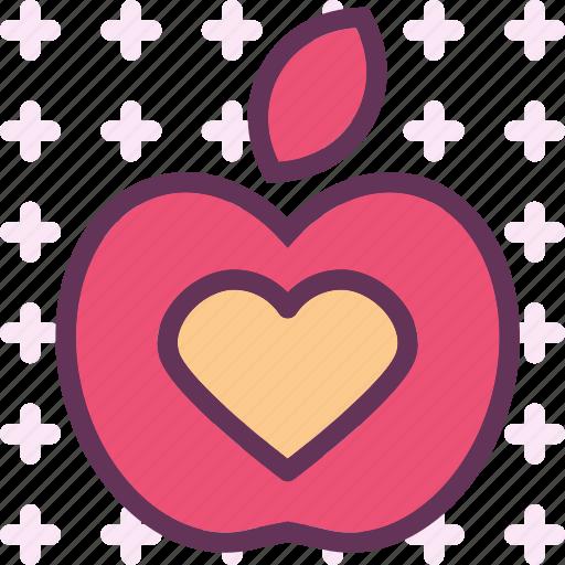 fruit, health, heart, love, medical, organ icon