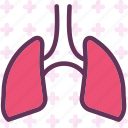 air, human, lungs, organ icon
