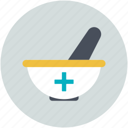herbal medicine, medicine bowl, mortar and pestle, pharmacist, pharmacy tool icon