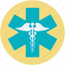 caduceus, medical logo, rod of asclepius, star of life, symbol of hermes