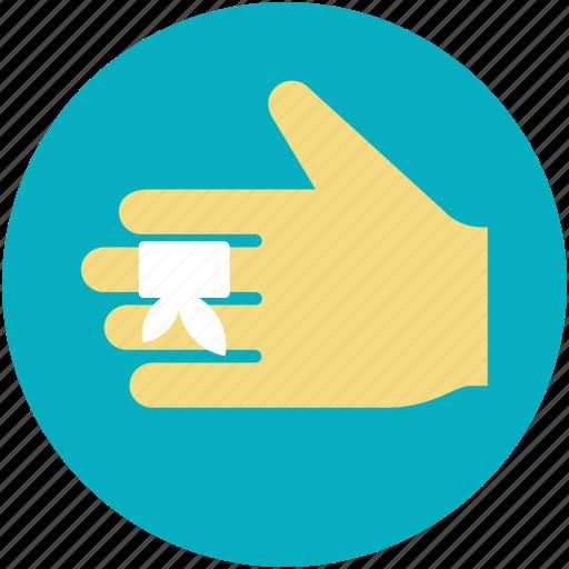 bandage, finger bandage, finger injury, hurted finger, medical dressing icon