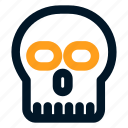 dead, death, hospital, medical, medicine, skull icon