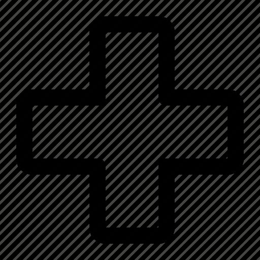 cross, health, hodpital, medical icon