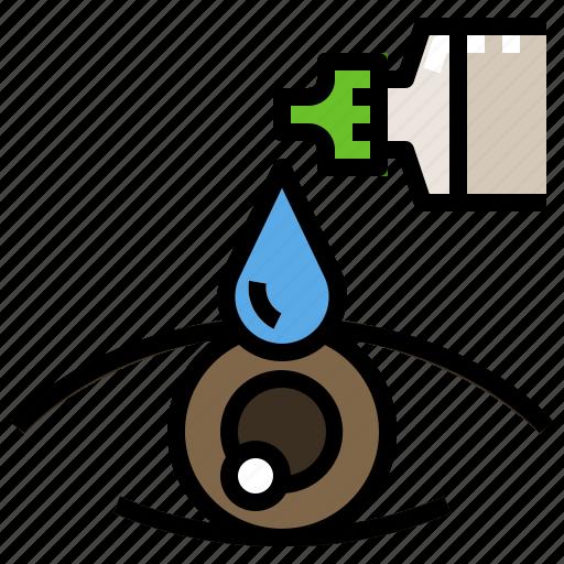 care, drops, eye, liquid, medicine icon