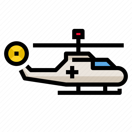 aircraft, fly, helicopter, rescue, transport icon