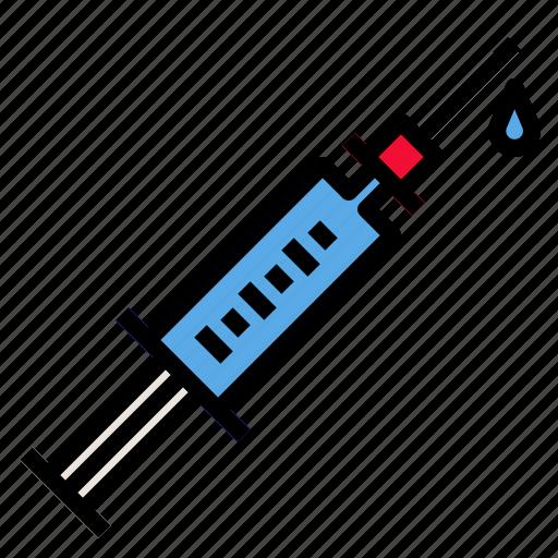 drug, hypodermic, medical, medication, syringe icon