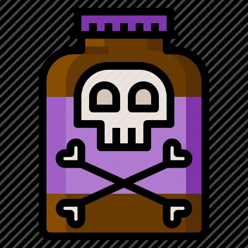 danger, medical, poison, skull, toxic icon