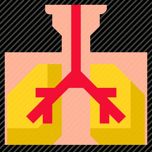 cancer, human, lung, medical, respiratory icon