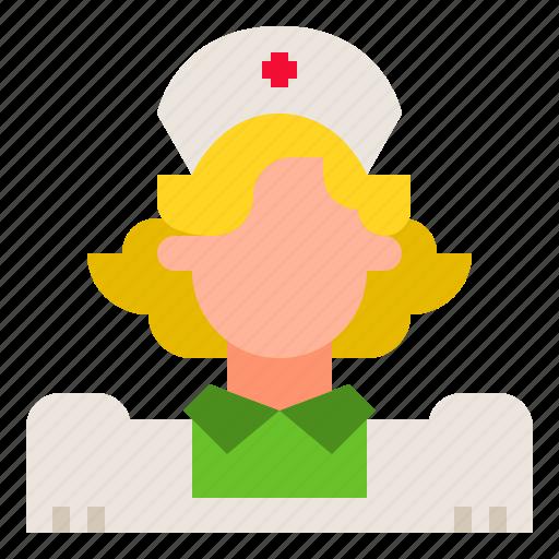 healthcare, hospital, nurse, people, woman icon
