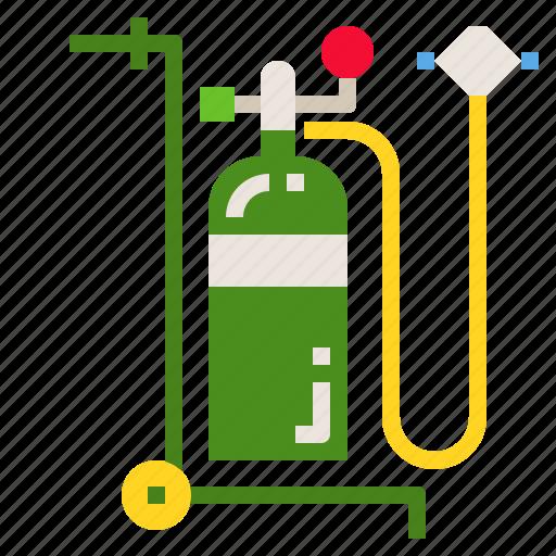 air, gas, medical, o2, oxygen icon