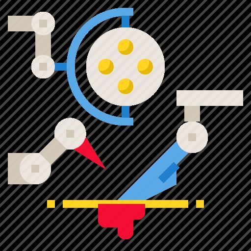 hospital, robot, robotic, surgery, technology icon