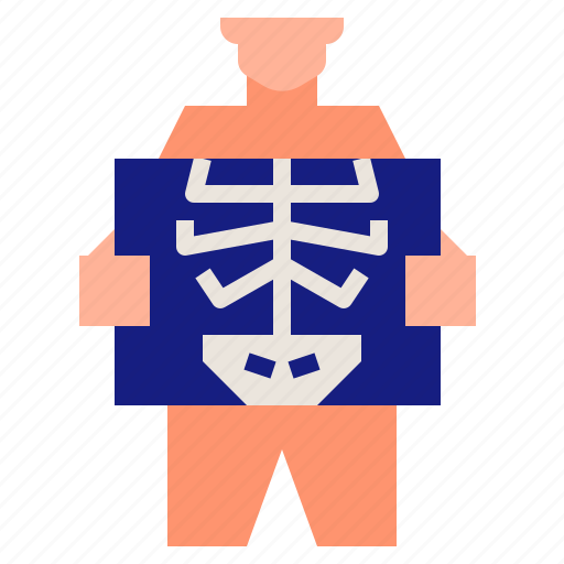 Radiology, hospital, xray, x, medical, ray icon - Download