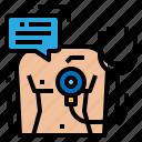 checker, diagnosis, patient, symptom icon