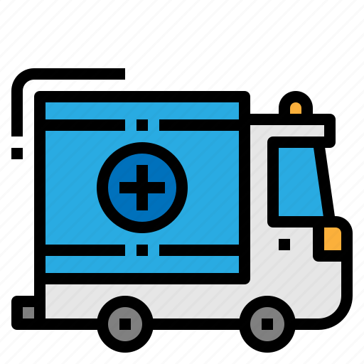 ambulance, medical, service, transport icon
