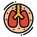 anatomy, lung, medical, organ icon