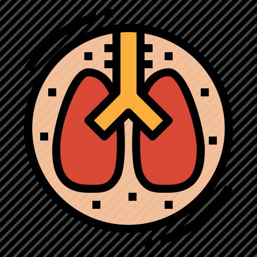 anatomy, lung, medical, organ icon