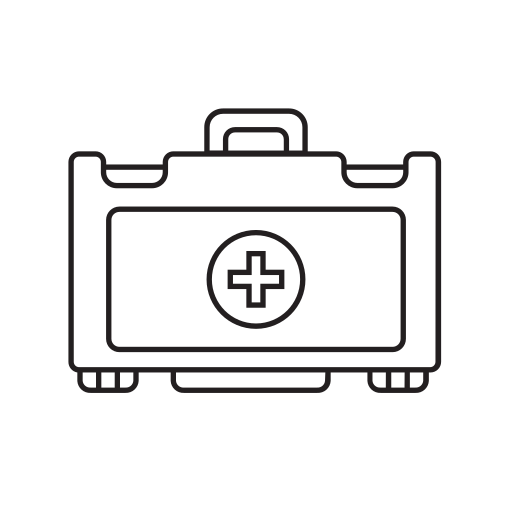 aid, care, first, health, kit icon