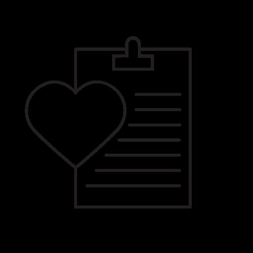 check, health, healthcare, heart, hospital, mark icon
