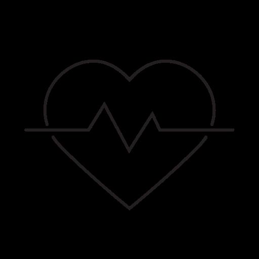 health, healthcare, heart, pulse, rate icon