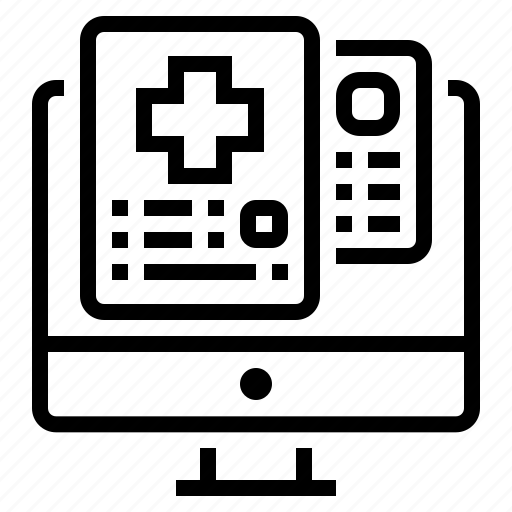 computer, document, medical, profile icon