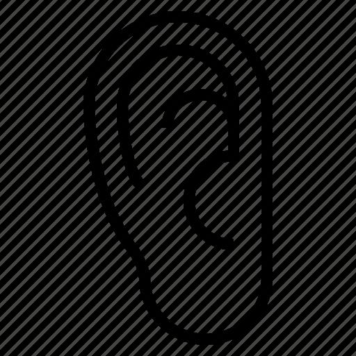 deafness, disease, ear, medical icon