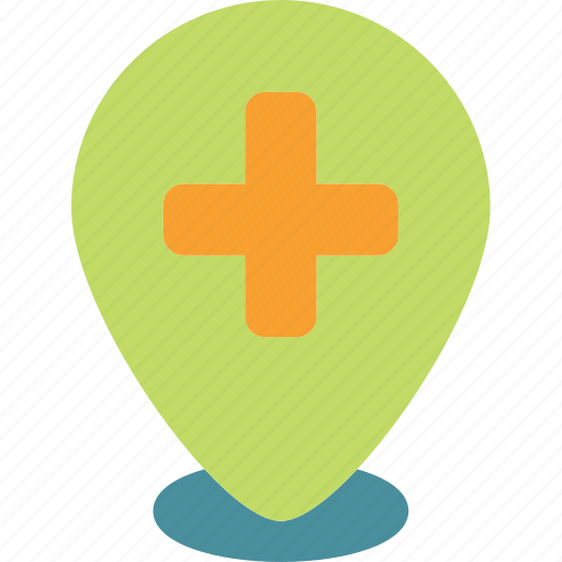 location, map, medical, pin, point icon
