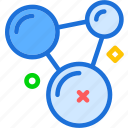 analyze, bacteria, medical, molecules icon