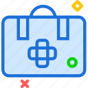 bag, doctor, suitcase, transplant icon